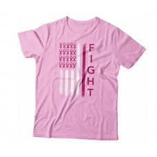Apparel - Breast Cancer Flag Fight T-Shirt