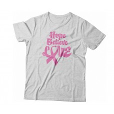 Apparel - Breast Cancer Hope Believe Love T-Shirt