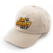 Apparel - Cat Country Cap Tan with Embroidered Logo Front and Paw Print on Back