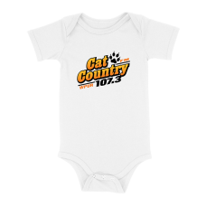 Apparel - Cat Country Onesie White with Full Front Logo