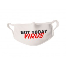 COVID-19 Face Mask Not Today Virus - Sold in packages of 5 masks per package