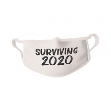 COVID-19 Face Mask Surviving 2020 - Sold in packages of 5 masks per package