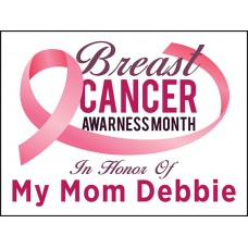 Breast Cancer - In Honor Of with Custom Name