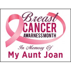 Breast Cancer - In Memory Of with Custom Name