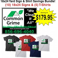 Contractor Job Sign and Shirt Package Deal