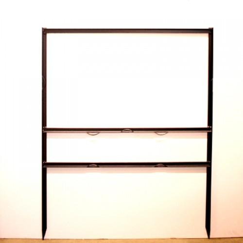 "18x30 Black 3/4"" Angle 6""x30"" Bottom Header Frame for All Materials"