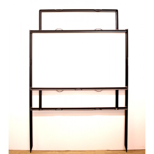 """18x30 Black 3/4"""" Angle 6""""x24"""" Top Header Frame for All Materials"""