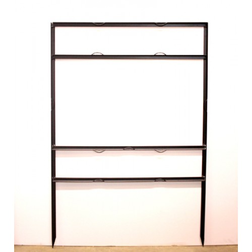 """18x30 Black 3/4"""" Angle 6""""x30"""" Top Header Frame for All Materials"""