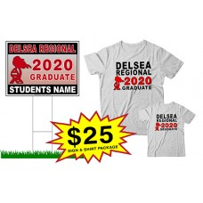 "School Sign - 18""h x 24""w - Delsea Regional HS One Sign and Two Shirts Package"