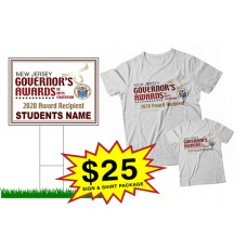"School Sign - 18""h x 24""w - NJ GOVERNOR""S AWARD One Sign and Two Shirts Package"