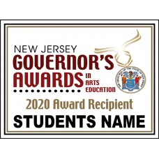 "School Sign - 18""h x 24""w - NJ Governor's Awards 4mm Corrugated Plastic Sign with Metal H-Frame Included"