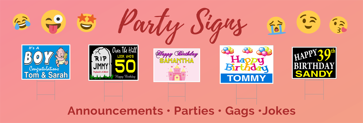 Party Signs