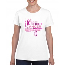 Apparel - Breast Cancer Strength Love Fight T-Shirt