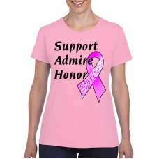 Apparel - Breast Cancer Support Admire Honor T-Shirt