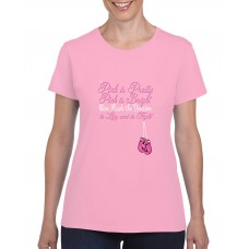 Apparel - Breast Cancer Pink Is Pretty Pink Is Bright with Boxing Gloves T-Shirt