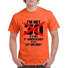 Apparel - Stock Design Age - I'm Not 30 - Orange/Black