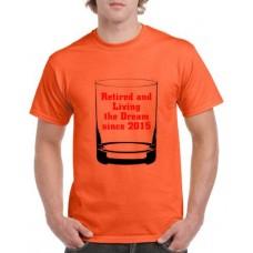 Apparel - Stock Design Age - Retired Living The Dream - Orange/Black