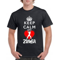 Apparel - Stock Design T-Shirt Black with Keep Calm and Zumba