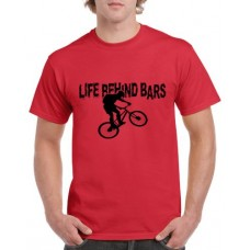 Apparel - Stock Design T-Shirt Red with Life Behind Bars