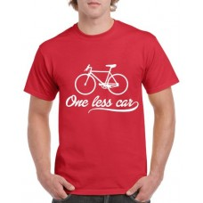 Apparel - Stock Design - One Less Car - Red/White