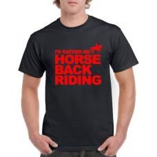Apparel - Stock Design - Rather Be Horseback Riding - Black/Red