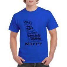 Apparel - Stock Design - Mutt Shape - Blue/Black