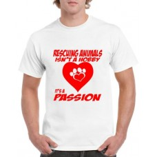 Apparel - Stock Design - Rescuing Animals - White/Red