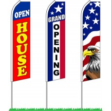 "Flag - GIANT Business Flags 30"" Wide x 16' Tall"