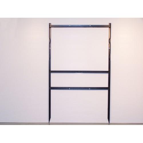 "18x24 Black 3/4"" Angle Bottom Header Frame for All Materials"