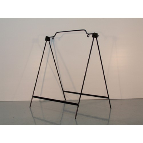 18x24 Black Round Rod Single Panel Swinger A-Frame
