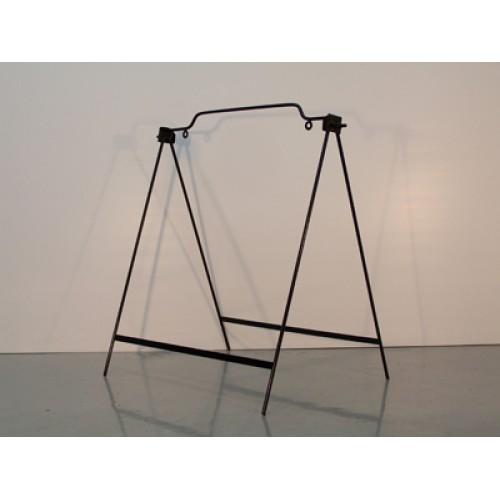 18x24 Black Round Rod Single Panel Swinger A-Frame