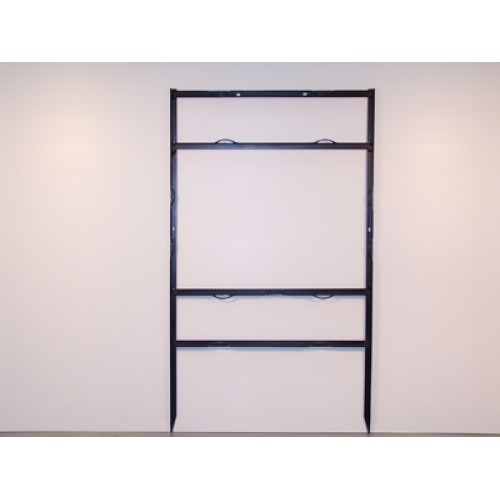 """18x24 Black 3/4"""" Angle Top Header Frame for All Materials"""