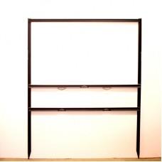 "Frame - 18x30 Black 3/4"" Angle 6x30 Bottom Header Frame"