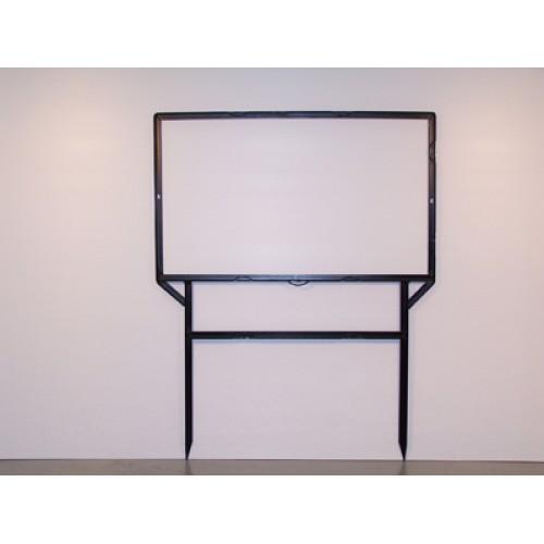 "18x30 Black 3/4"" Angle 6""x24"" Bottom Header Frame for All Materials"