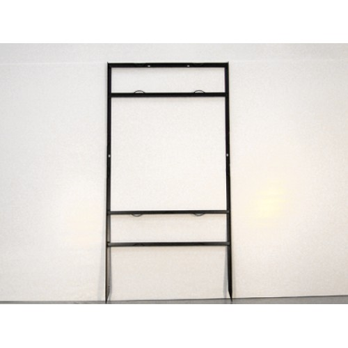 """24x24 Black 3/4"""" Angle Top Header Frame for All Materials"""