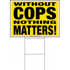 Police - 18x24x4mm Coroplastic Black on Yellow with Double Sided Print