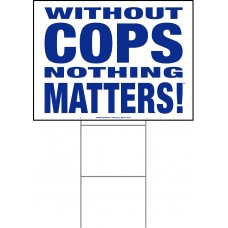 Police - 18x24x4mm Coroplastic Blue on White with Double Sided Print