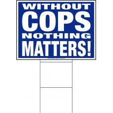 Police - 18x24x4mm Coroplastic White on Blue with Double Sided Print
