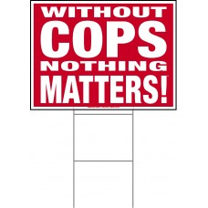 Police - 18x24x4mm Coroplastic White on Red with Double Sided Print