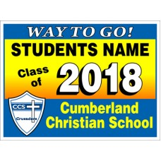 "School Sign - 18""h x 24""w - 4mm Corrugated Plastic Panel"