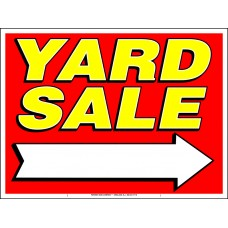 Directional - 18x24x4mm Coroplastic Stock Yard Sale with Double Sided Print