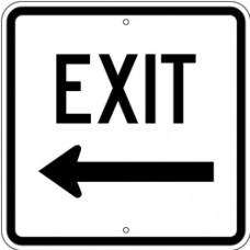 Traffic Control - Exit Left .080 Reflective Aluminum