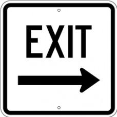 Traffic Control - Exit Right .080 Reflective Aluminum