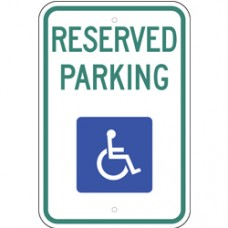 Traffic Control - Handicapped Parking No Arrow .080 Reflective Aluminum