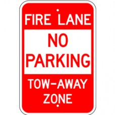 Traffic Control - No Parking FIre Lane Tow Away Zone .080 Reflective Aluminum
