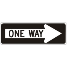 Traffic Control - One Way Right .080 Reflective Aluminum